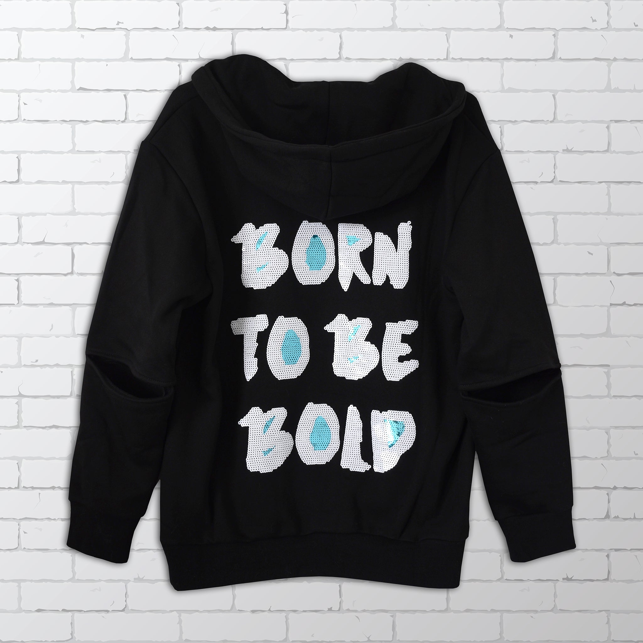 Born to be Bold Sequin Hoodie -  Bold Clothing & Headwear - www.headforbold.com #BeBold