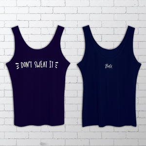 Don't Sweat It Navy Blue Dry-Fit Singlet -  Bold Clothing & Headwear - #sayitinbold | Bold Clothing | www.boldornaked.com