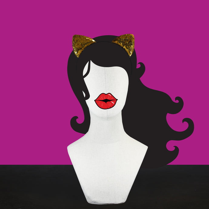 Gold Kitten Headbands for Girls & Women | #BeBold | Bold Clothing & Headwear