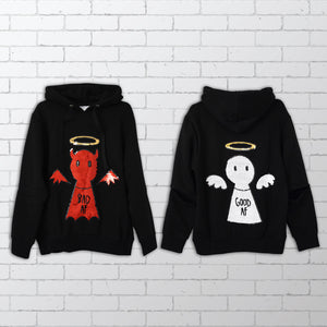 Angel / Devil - Good AF / Bad AF Sequin Hoodie -  Bold Clothing & Headwear - #sayitinbold | Bold Clothing | www.boldornaked.com
