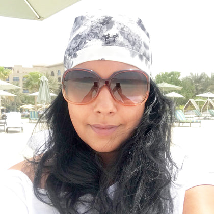 @nitu_kamboj11 wears our Smooth Operator Headwear while on holiday in Dubai