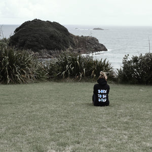 Kate wears Bold's Born to be Bold sequin hoodie in New Plymouth New Zealand  | #sayitinbold @boldornaked shop online at www.boldornaked.com