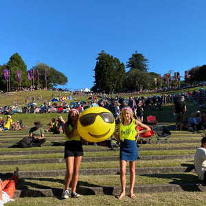 Grace & Aaliyah rock our Bold AF singlets at Womad NZ