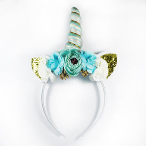 Blue Unicorn Headbands for Girls | #BeBold | Bold Clothing & Headwear