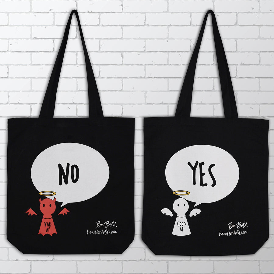 YES / NO Reusable Canvas Tote -  Bold Clothing & Headwear - #sayitinbold | Bold Clothing | www.boldornaked.com