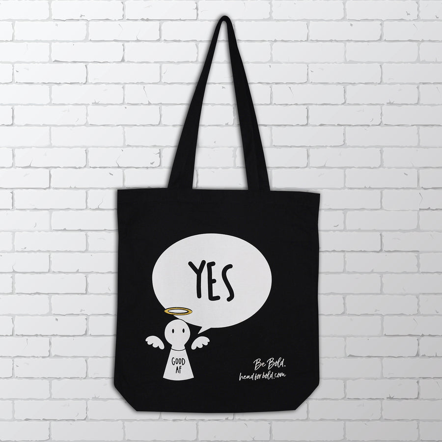 YES / NO Reusable Canvas Tote - #Bagsy | Bold Clothing & Headwear #sayitinbold | Bold Clothing | www.boldornaked.com