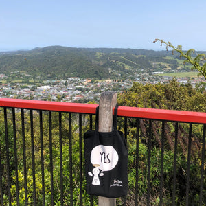 #Bagsy Location: Whangarei Lookout | The Bold Yes / No re-usable tote bag | gym bag | beach bag | shopping bag | Free with every Hoodie | #sayitinbold @BoldorNaked shop online www.boldornaked.com