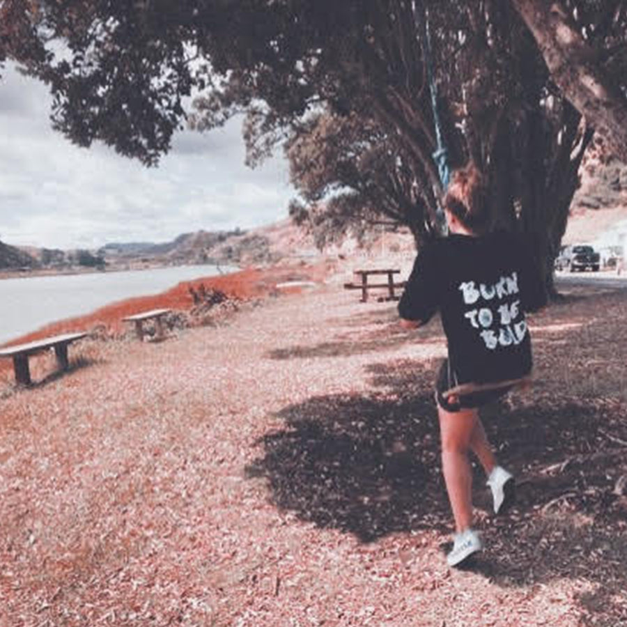 Kate Swings in our Born to be Bold Sequin Hoodie -  Bold Clothing - Unique Bamboo Clothing & Streetwear | #sayitinbold @boldornaked shop online at www.boldornaked.com