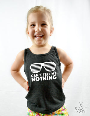 can't tell me nothing kids tank