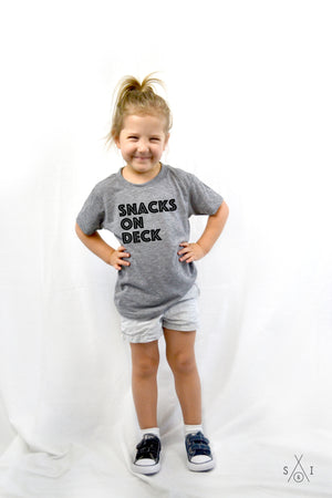 snacks on deck kids tee