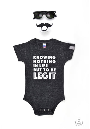 knowing nothing in life but to be LEGIT grayscale baby onesies