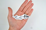 paper airplane iron-on patch