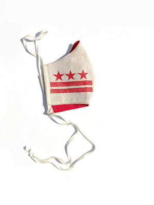 DC Flag Face Mask: Double Layer 100% Cotton lining and filter pocket