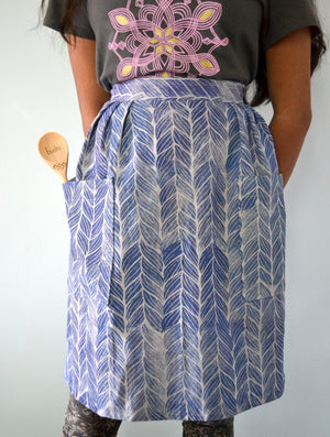 blue braids half apron: [CHEMlab collaboration]