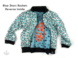 CHEMlab reversible printed jersey kids bomber jacket: unisex
