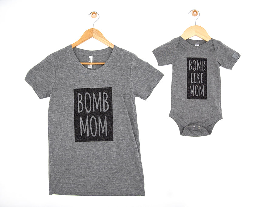 me and my mini: b0mb like mom (tee/baby one piece bundle)
