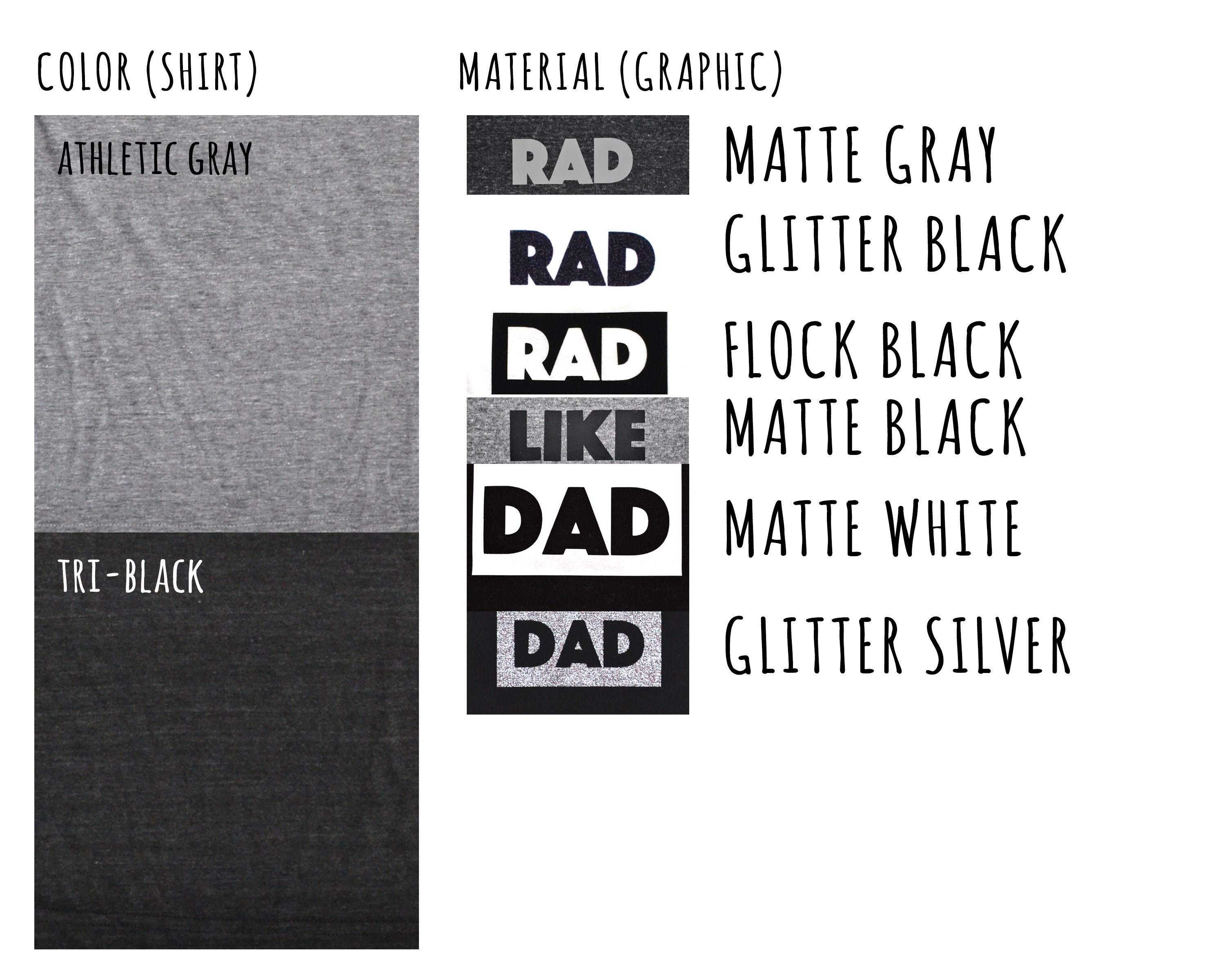 rad like dad kids tee: regular letters