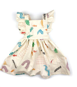 confetti kids pinafore dress: [CHEMlab collaboration]