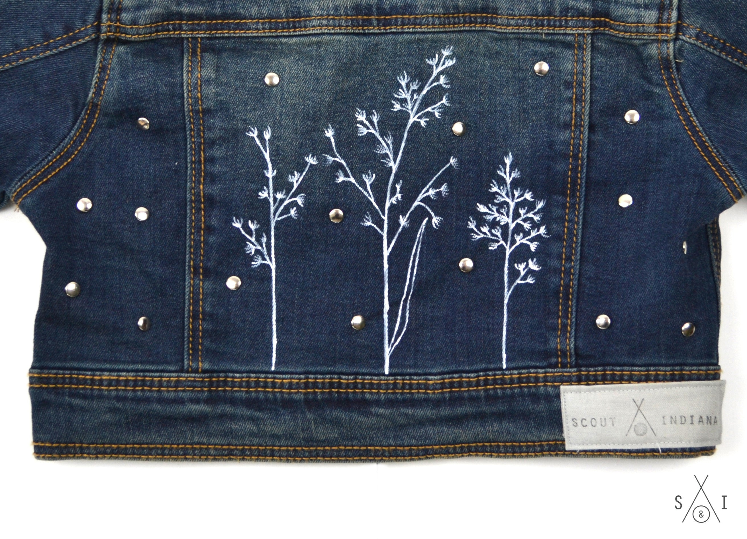 wildflower CUSTOM denim jacket: girls