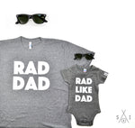 me and my mini: rad like dad (tee/baby one piece bundle)