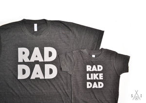 me and my mini: rad like dad (tees bundle)