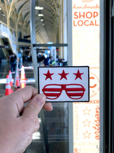 DC cool flag iron-on patch