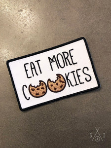 eat more cookies iron-on patch