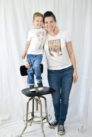 me and my mini: b0mb like mom ROSE GOLD (tees bundle)