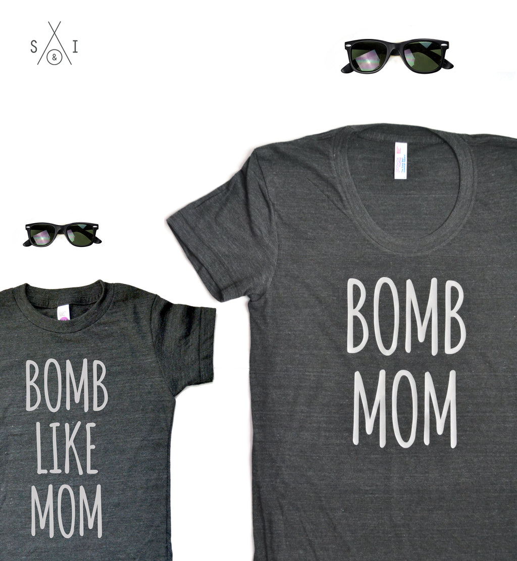 me and my mini: b0mb like mom (tees bundle)
