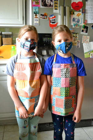 multiweave half apron, mommy & me: [CHEMlab collaboration]