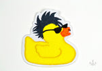 punk rubber ducky iron-on patch