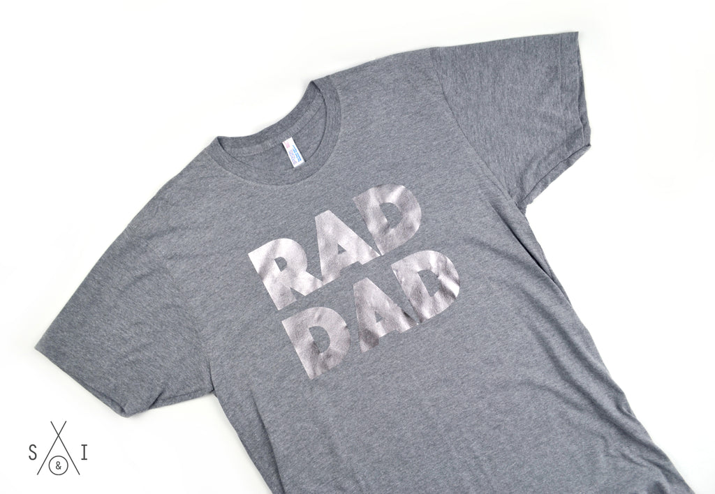 RAD dad PEWTER FOIL tee