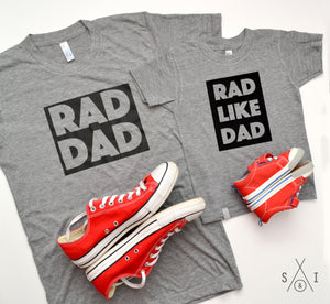 RAD dad tee - block letters