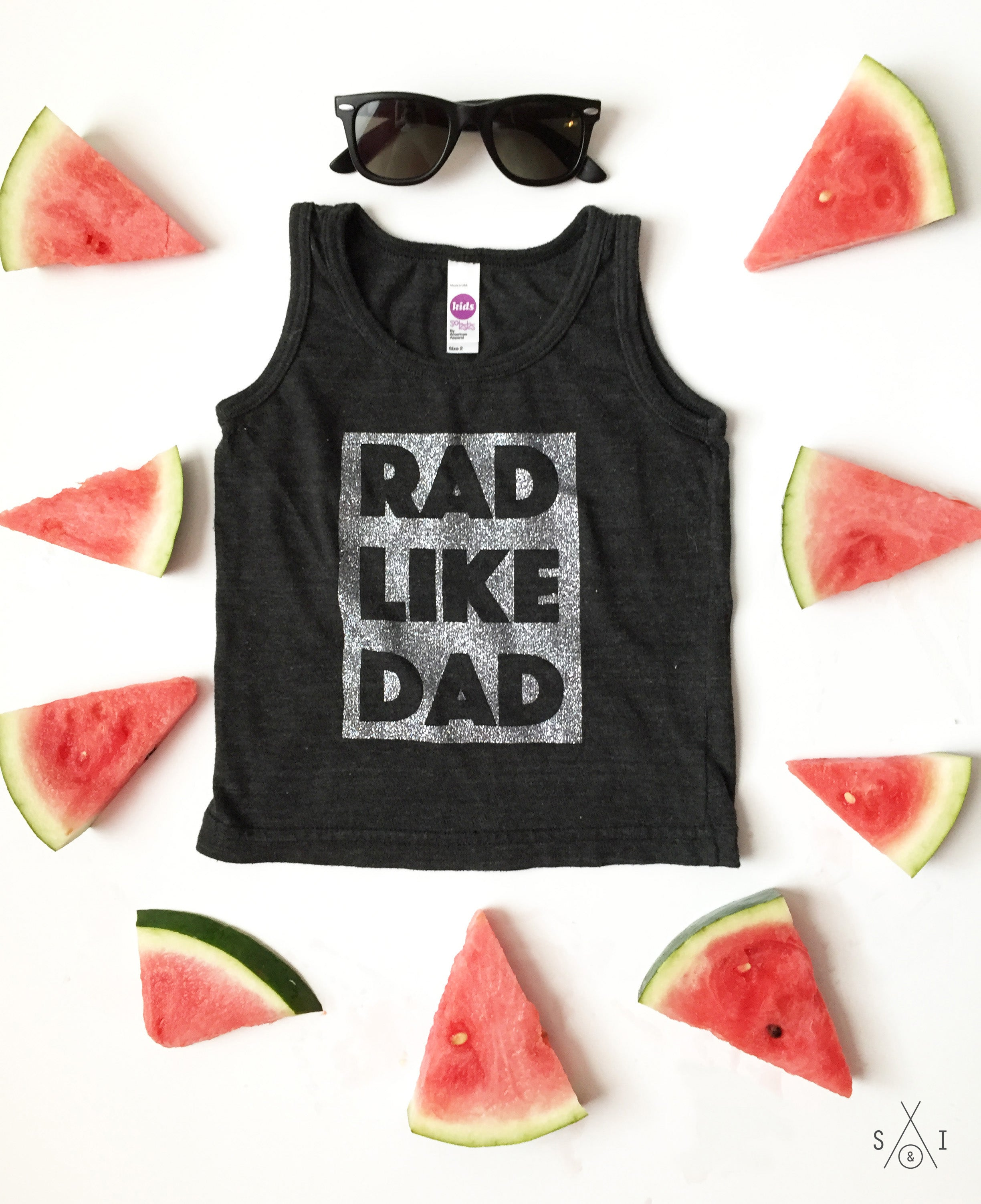 rad like dad kids tank top