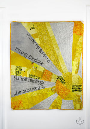 you are my sunshine patchwork baby quilt