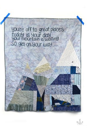 oh the places you'll go: dr. seuss baby quilt