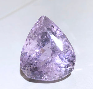 Rare 26.2ct Large Faceted Gem Pink Kunzite Crystal Gemstone Perfect for Jewelry - Afghanistan - Item:KZ19002