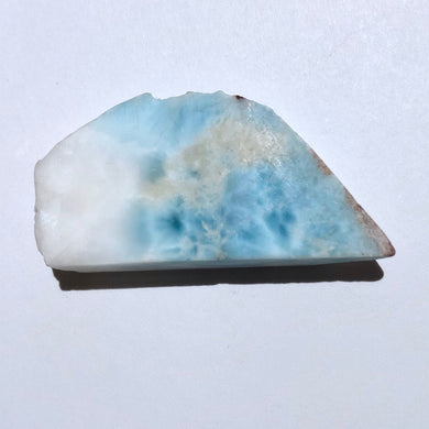 "Top Quality 23g 2.1"" Large Lightly Polished Larimar Crystal Slab - Dominican Republic - Item:LAR19261"
