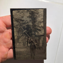Rare Armed American Soldier Uniform w/ Rifle + Bayonet Military Gun Original Vintage Tintype Photograph - Circa 1800s - Item:TT20041