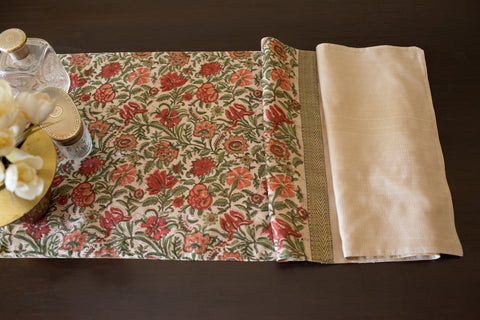 MAHESHWARI JAIPUR BLOCK PRINT | WILLIAM MORRIS | PLAIN BORDERS