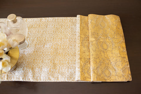 Metallic Antique Gold Prints | Cotton Voile