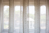 Sheer Printed Voile | White Floral Border | Kota