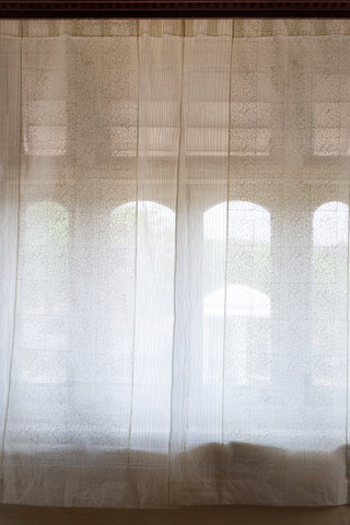 Summer Organdy Whites | Stitched Linear Panels