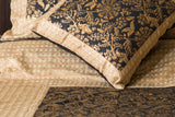 Metallic Gold Block Prints (Black/Beige) | Cotton Voile