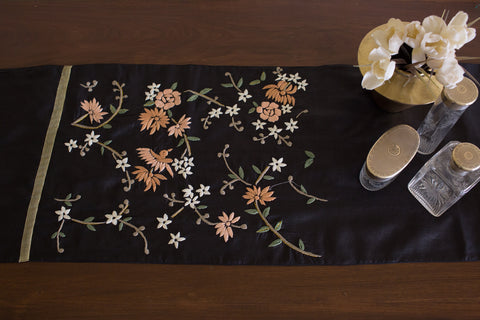 Hand Embroidered Silk (Black) | Chinese Multi