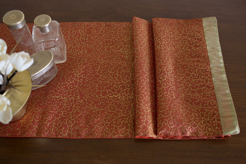 Woven Tissue Runner (Red) | Jaal Print