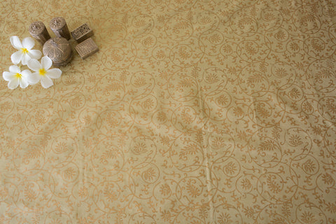 Woven Tissue (Natural/Gold) | Paisley Jaal
