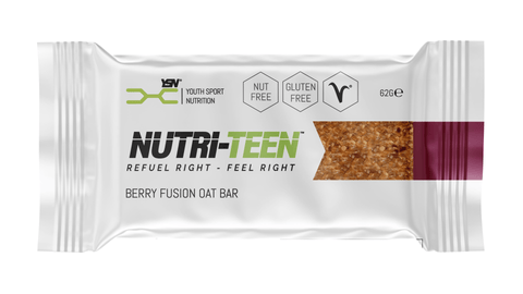 Healthy snack for teen athletes, breakfast bar. Nutri-Teen bar