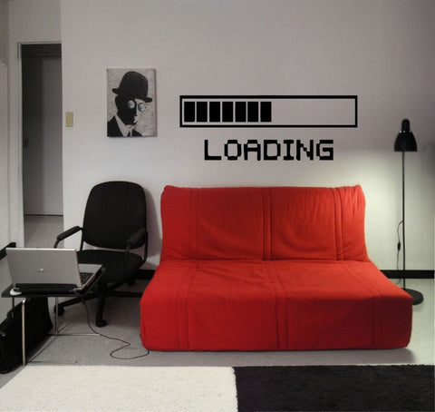 """Loading..."" Vinyl Wall Sticker"