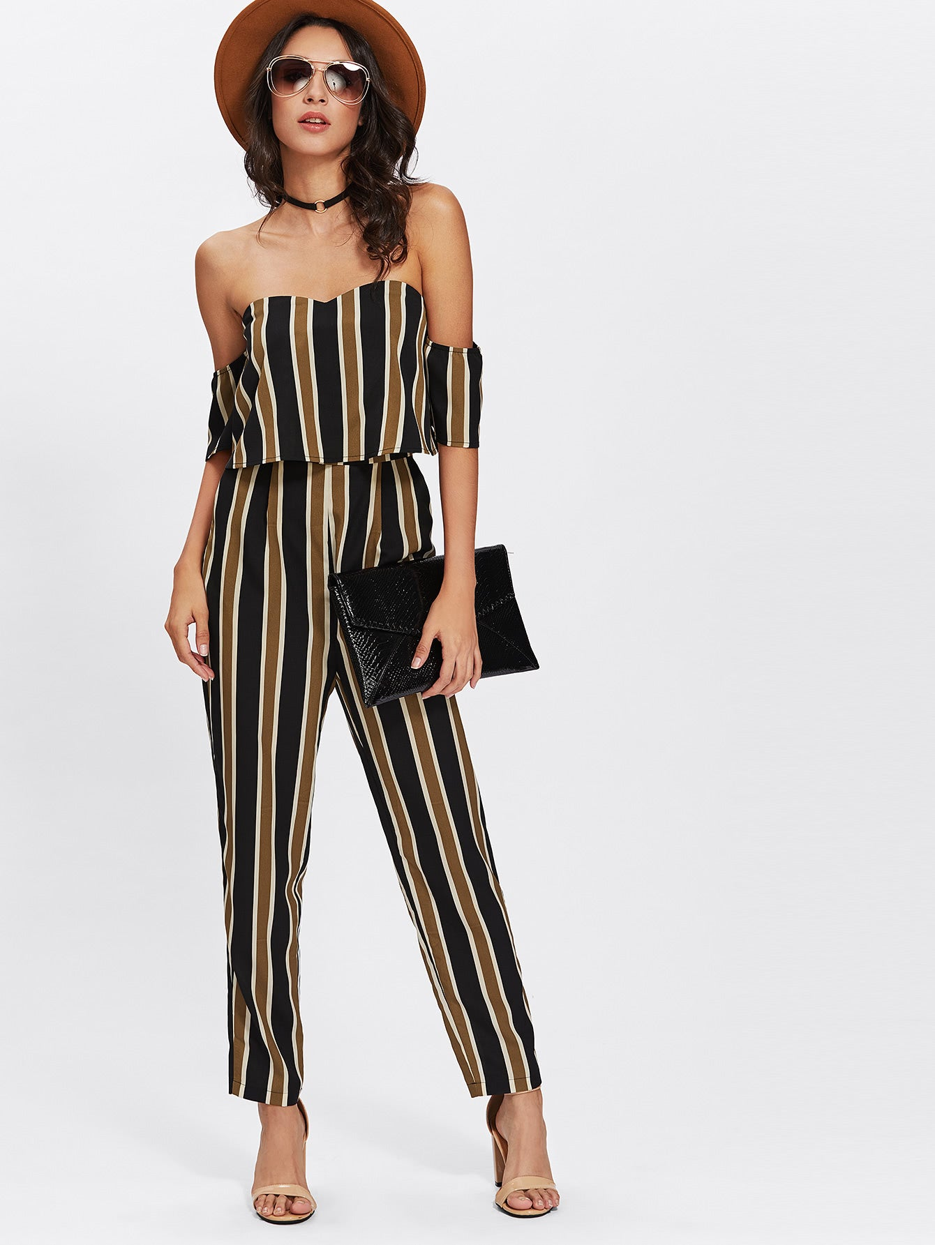 Aviana - Stripe Jumpsuit